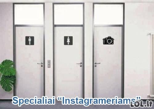 """""""Instagramo"""" amžiaus tualetas"""