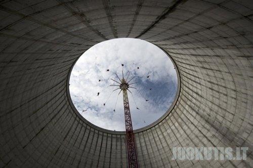 Atominės elektrinės vietoje - įrengtas pramogų parkas