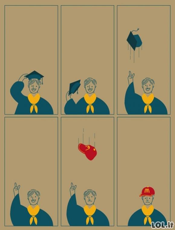 Ne diplomas gyvenime svarbiausia