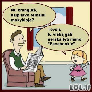 Kodėl tėvams verta turėti Facebook'ą