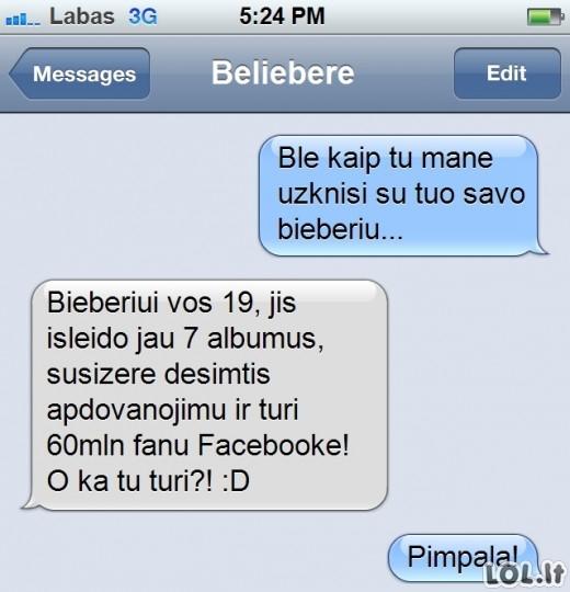 Blogiau už Bieber - tik Belieber