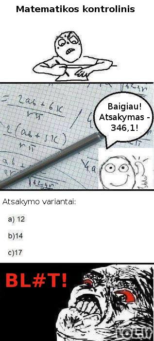 Eilinis matematikos kontrolinis