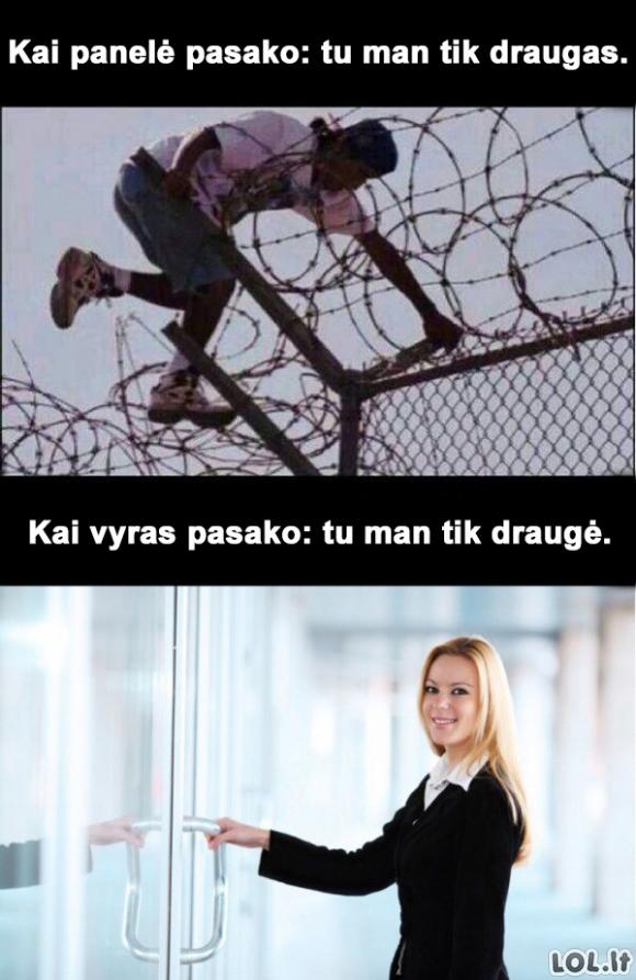 Draugystė tarp moterų ir vyrų