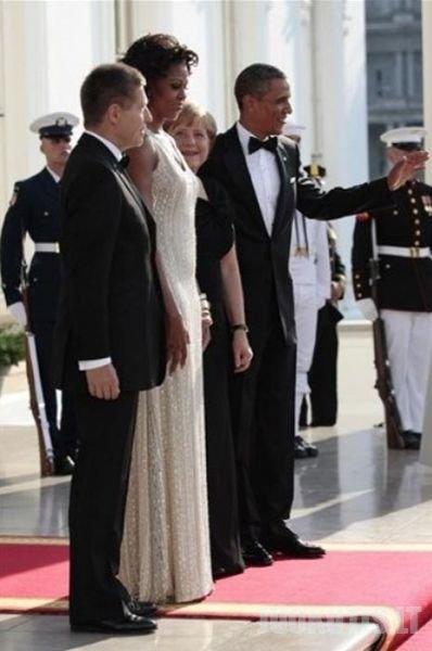 Michelle Obama labai patiko Angelai Merkel