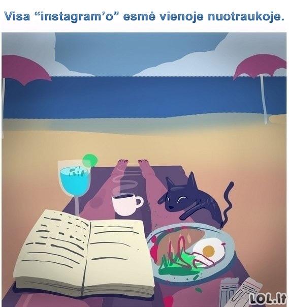 """Ką dažniausiai """"Instagramm'ina"""" žmonės"""