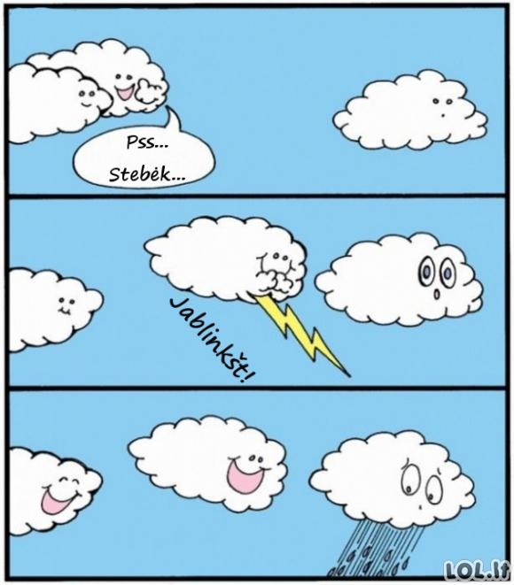 Iš kur atsiranda lietus?