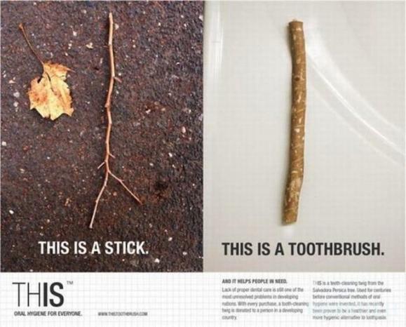 Ekologinis dantų šepetėlis