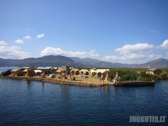 Cukranendrėmis pintos plaukiojančios salos
