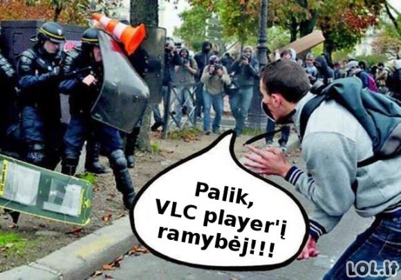 Kas nuskriaudė VLC player'į?
