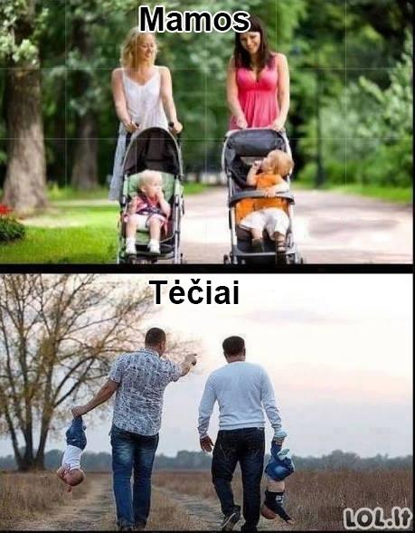Mamos vs tėčiai