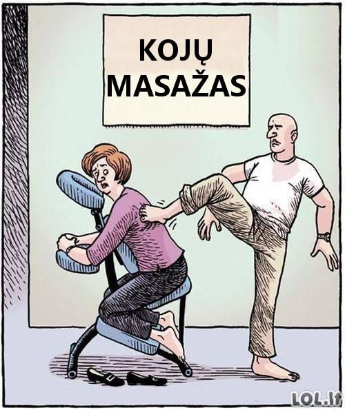 Kojų masažas be laimingos pabaigos