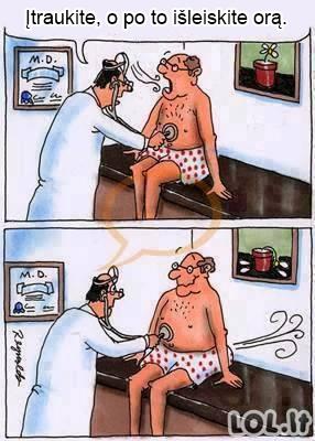 Nelengvas daktarų darbas