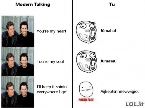 Kai lietuviai dainuoja angliškas dainas