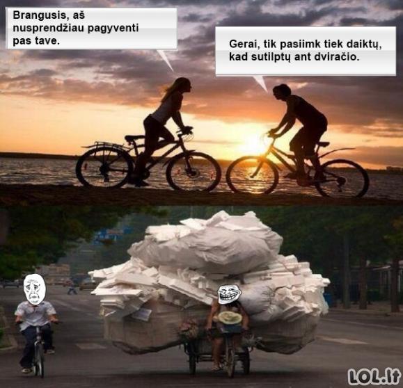 Panelių priklausomybė nuo daiktų