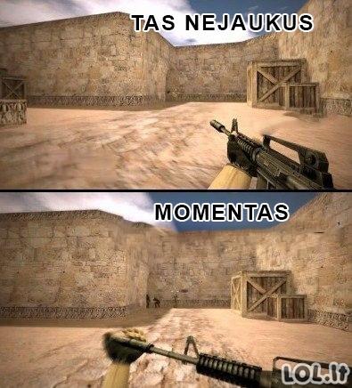 Nejaukiausias CS žaidėjų momentas