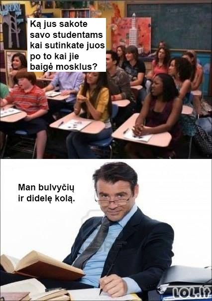 Skaudžiausias atsakymas studentams