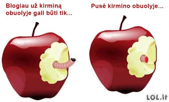 Kodėl aš nekenčiu obuolių