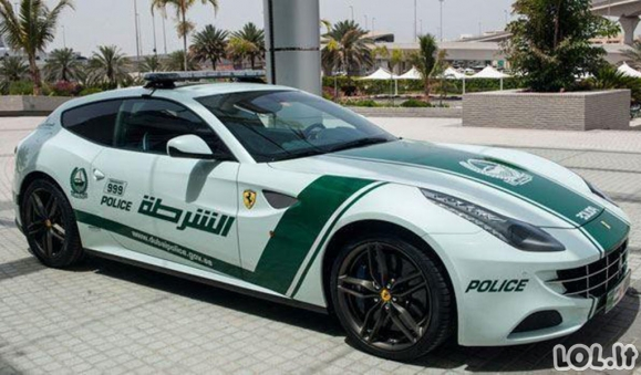 Įspūdingi Dubajaus pareigūnų automobiliai