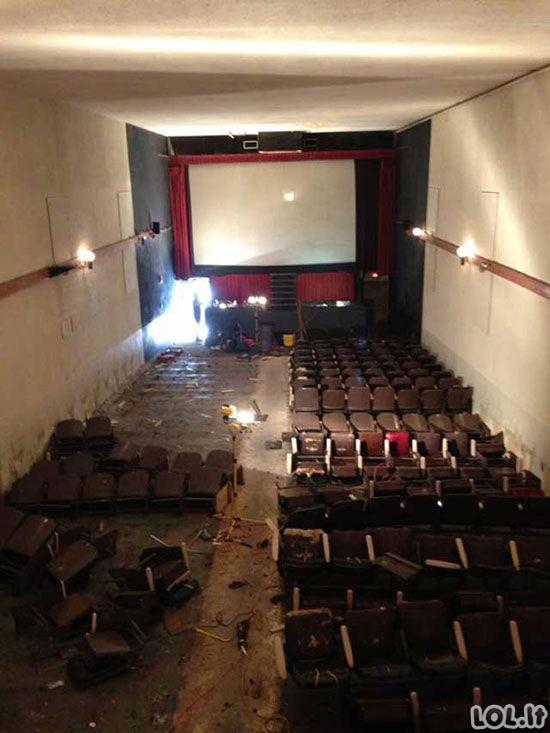 Apleistas suaugusiųjų kino teatras JAV