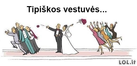 Vyrai ir moterys per vestuves