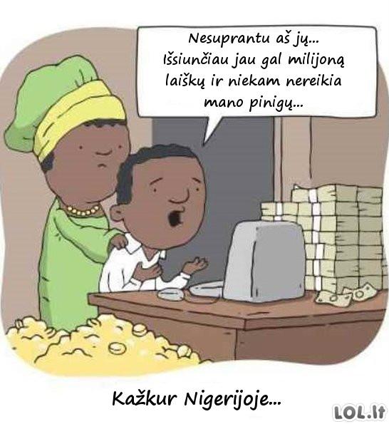 Vargšai Nigerijos milijonieriai