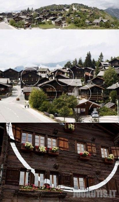 Optinė iliuzija Alpėse