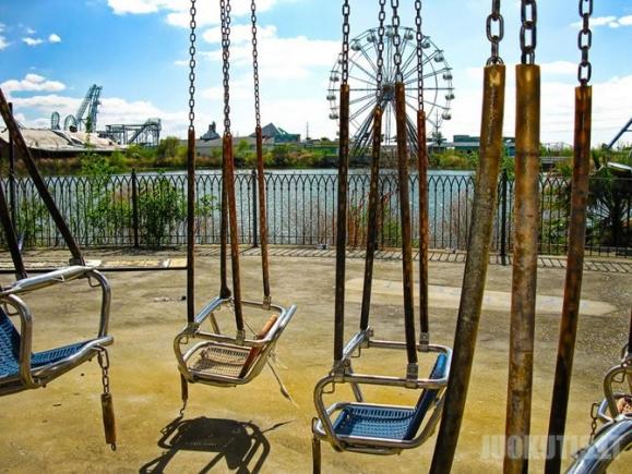 Apleistas pramogų parkas Naujajame Orleane