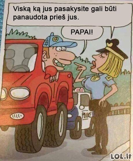 Jei įkliuvai policininkei