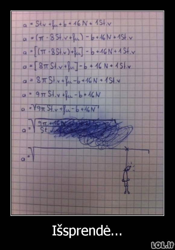 Lengviausias aukštosios matematikos sprendimo būdas