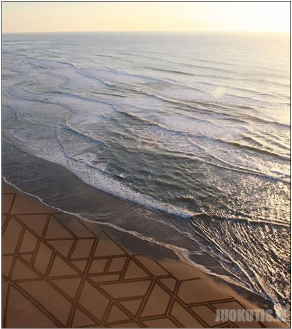 Paveikslai ant smėlio