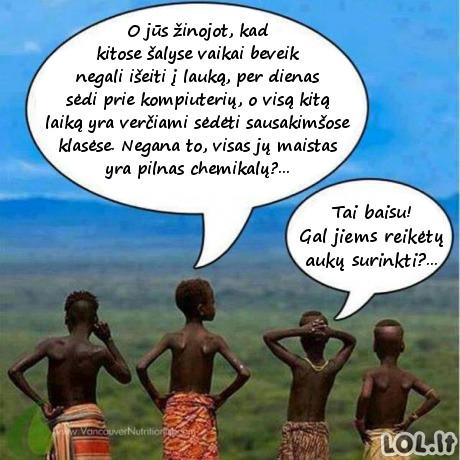 Ką apie mus galvoja Afrikos vaikai