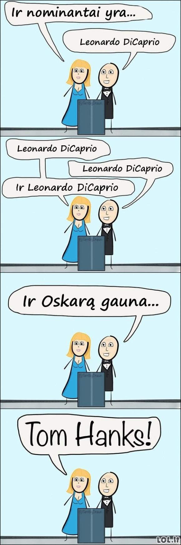 Leonardo DiCaprio košmaras