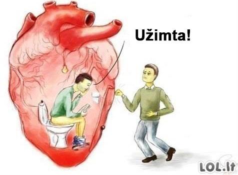 Daugumos žmonių širdies užimtumo reikalai