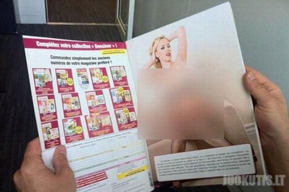 Vaikiškas žurnalas su porno paveiksliukais