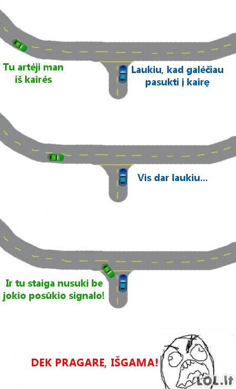 Nekenčiamas vairuotojas kelyje