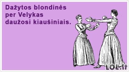 Dažytų blondinių Velykos