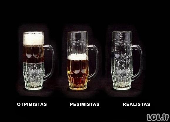 Optimistas vs pesimistas vs realistas