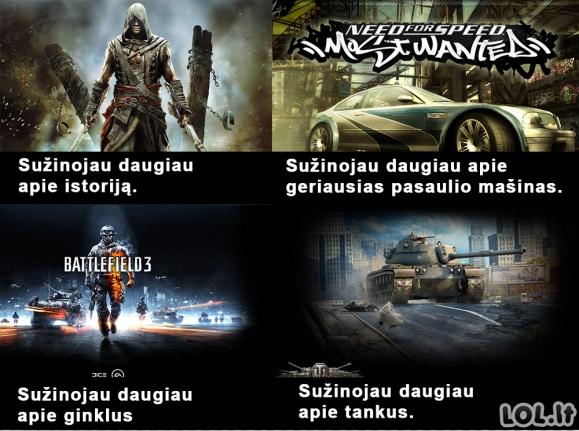 Žaidimų nauda