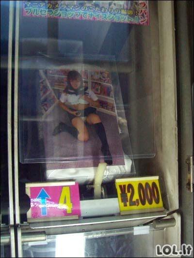 Keisčiausi pardavimų automatai Japonijoje