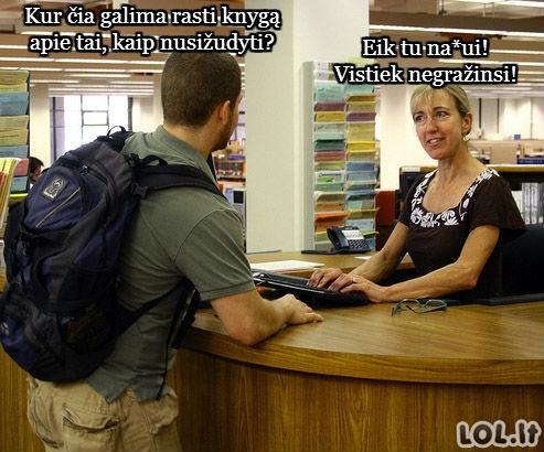Bjauriausi bibliotekų klientai