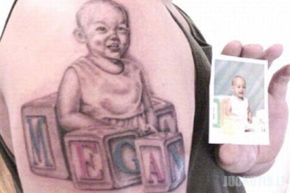 Nevykusios vaikų tatuiruotės