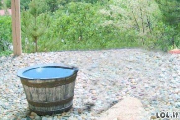 Kur dingsta vanduo iš kubilo