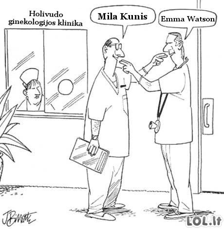 Holivudo ginekologų bajeriai