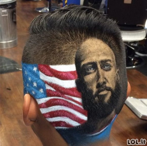 Kirpėjas, kuris daro nerealias šukuosenas