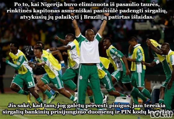 Nigerijos kapitono geraširdiškumas