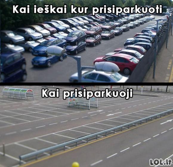 "Parkavimosi ""zapadlo"""