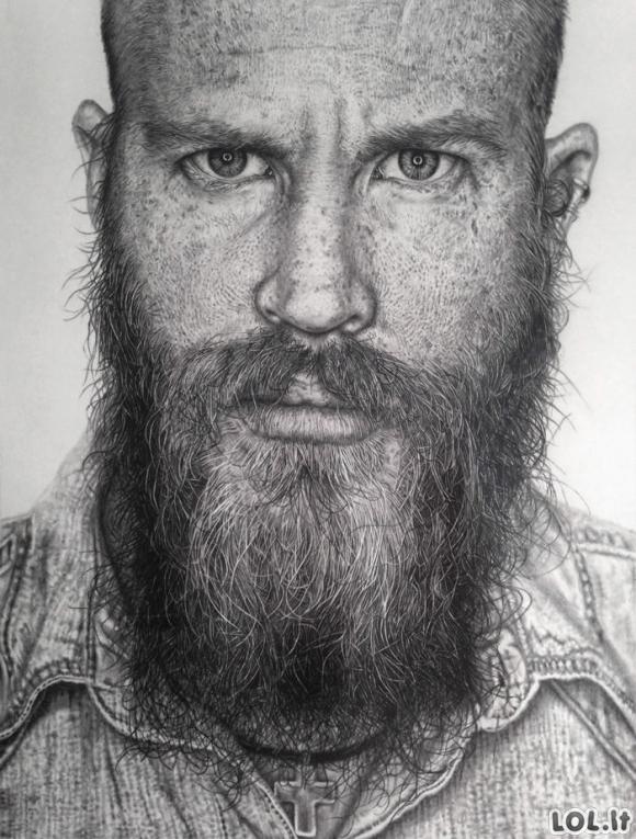 Nerealiai realistiški piešiniai pieštuku