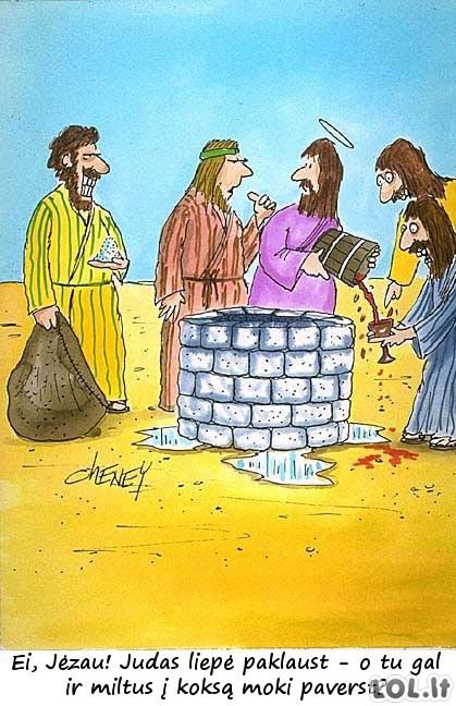 Kaip Jėzus svaigalus gamino...