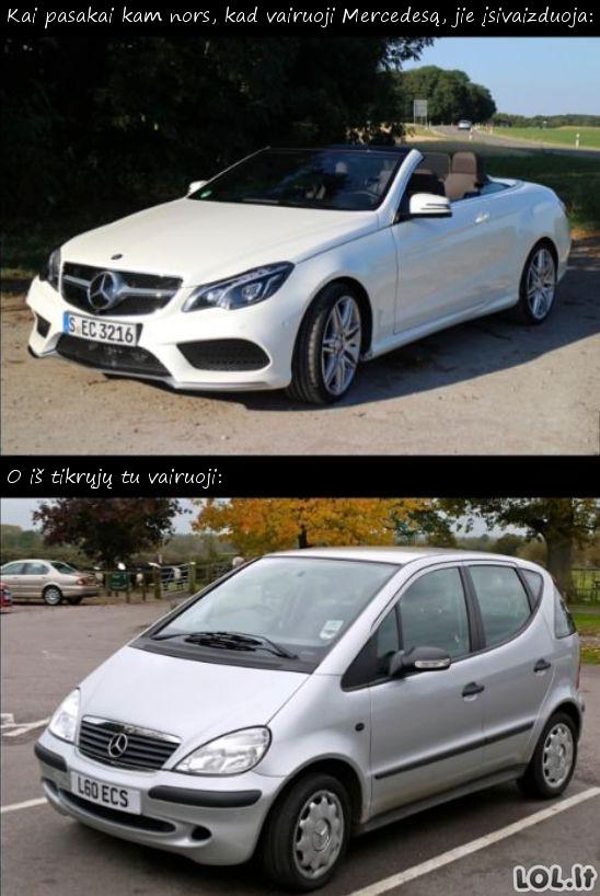 Mercedes vairuotojų siaubas