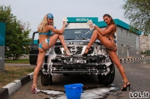 Seksualios merginos plauna mašiniukus [2 dalis]